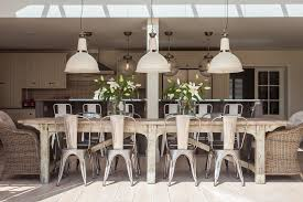 large table with large kitchen table dining room shabby chic style