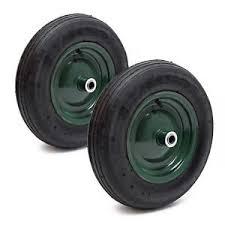 chambre à air brouette 3 50 8 lot 2 roues complètes brouette 3 50 8 pneu jante métal chambre air