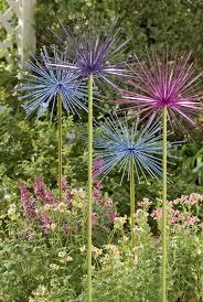 metal flowers large metal flowers everlasting alliums gardener s supply