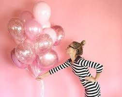balloon delivery ta pink gold balloon bouquet confetti balloons confetti