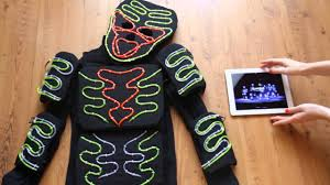 halloween costumes led lights how to make led light costume el wire light suits with ipad