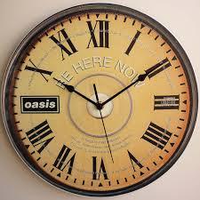 oasis u2013 be here now cd art u2013 12 u2033 lp vinyl record wall clock the