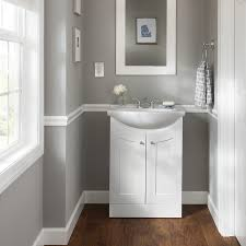 19 Bathroom Vanity And Sink Style Selections Euro White 19 In Integral Single Sink Bathroom