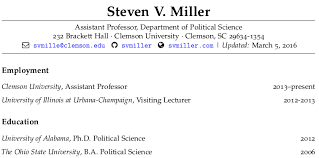 Sample Latex Resume Make Your Academic Cv Look Pretty In R Markdown Steven V Miller