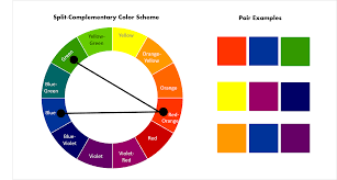 complementary color pin by visible on colores análogos complentarios split
