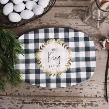 personalized platter black and white plaid personalized platter the personalized plate
