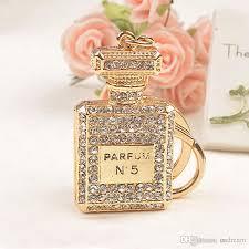 crystal chain rings images Diamond crystal n5 perfume bottle keychain carabiner key chain jpg