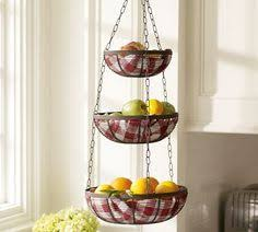 wire three tier hanging basket kitchens organizations and