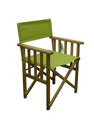 directors outdoor folding deck chair timber side slats polyester