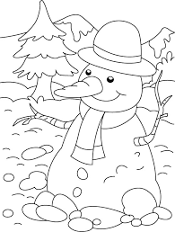 happy snowman long nose coloring download free happy