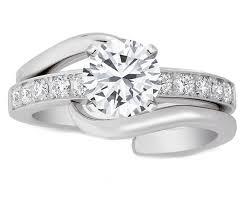 engagement ring and wedding band set best 25 interlocking wedding