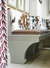 Is A Kitchen Banquette Right This Bespoke Bench Features Curved Support Brackets And Cushions