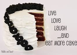 Live Laugh And Love by Bubble And Sweet Live Love Laugh And Eat More Cake New Years Red