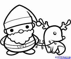 coloring pages santa u0026 rudolph coloring home