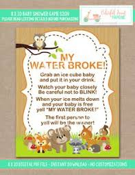 my water baby shower my water directions sign for baby shower freeze mini