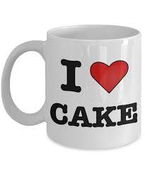cake mug i love cake coffee mug pastry chef gifts gifts for