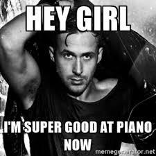 Piano Memes - ryan gosling piano skills emma stone la la land