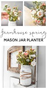 jar flower arrangement farmhouse jar planter jar and crafts