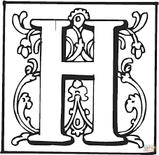 coloring page of the letter h coloring page