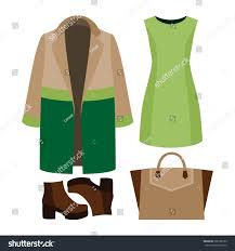 set trendy womens clothes woman stock vector 366109799