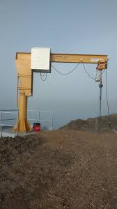 kelly panteluk construction outdoor jib cranes for saskpower