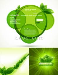 Home Design Vector Free Download Green And White Green Vector Design Material Website Background