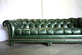 Leather Sofas Chesterfield by Large 20 Green Leather Sofa On Vintage Green Leather Chesterfield