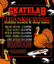 special thanksgiving hours november 22nd 24th closed on