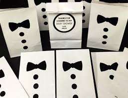 black tie party favors set of 10 personalized bow tie baby shower treat bags