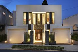 narrow modern house 190 sqm four bedroom exposed concrete house design architecture