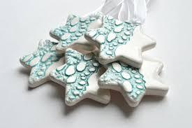 ceramic ornaments set of 5 isla clay