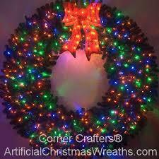 6 foot color changing l e d prelit wreath