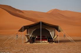 desert tent this is the world s most luxurious desert c daily mail online