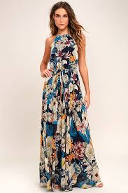 maxi dress lovely navy blue dress floral print dress floral maxi dress