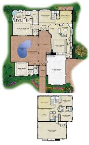apartments courtyard floor plans Courtyard Plans Hacienda Style