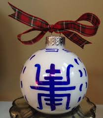 chinoiserie ornament symbol 1 blue and white custom order