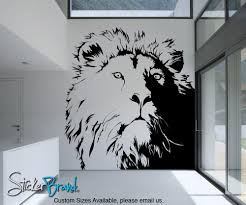 kid friendly vinyl wall decal sticker lion s head ac177