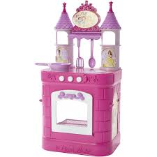 Pink Retro Kitchen Collection Disney Princess Magical Play Kitchen Walmart Com
