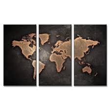 Black World Map by Aliexpress Com Buy 3 Pcs Set Black World Map Paintings Print
