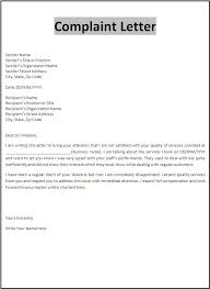 formal letter of complaint template cover letter sample 2017