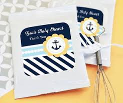 nautical baby shower favors 72 personalized nautical baby theme lemonade mix pouches baby shower