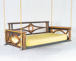 Lowes Swing Exterior Comfortable Terrace With Porch Swing Bed Plans Outdoor