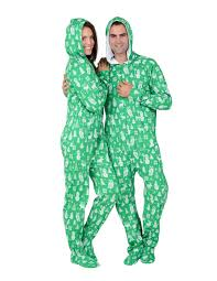 nordic hoodie cotton footed pajamas