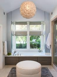 Bathroom Chandelier Lighting Ideas Decor Globe Capiz Shell Chandelier With White Bath Tub And Glass