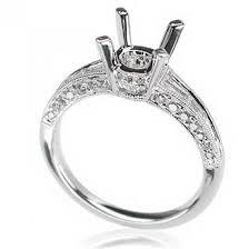 semi mount engagement rings parade 18 karat white gold semi mount engagement ring