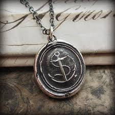wax seal jewelry nautical anchor wax seal necklace shannon westmeyer jewelry