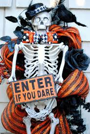 Scary Halloween Wreaths 81 Best Halloween Wreaths Images On Pinterest Halloween Wreaths