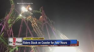Hours Of Six Flags Rescuers Pluck Passengers From Stuck Roller Coaster In Md 6abc Com