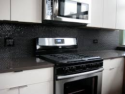 glass kitchen backsplash tiles 15 black kitchen backsplash ideas baytownkitchen