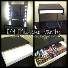 diy makeup vanity attractive how to make a makeup vanity with lights amazing ideas
